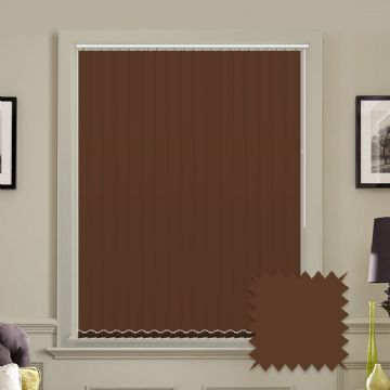 Blackout Bermuda Plain Cappuccino Vertical Blinds